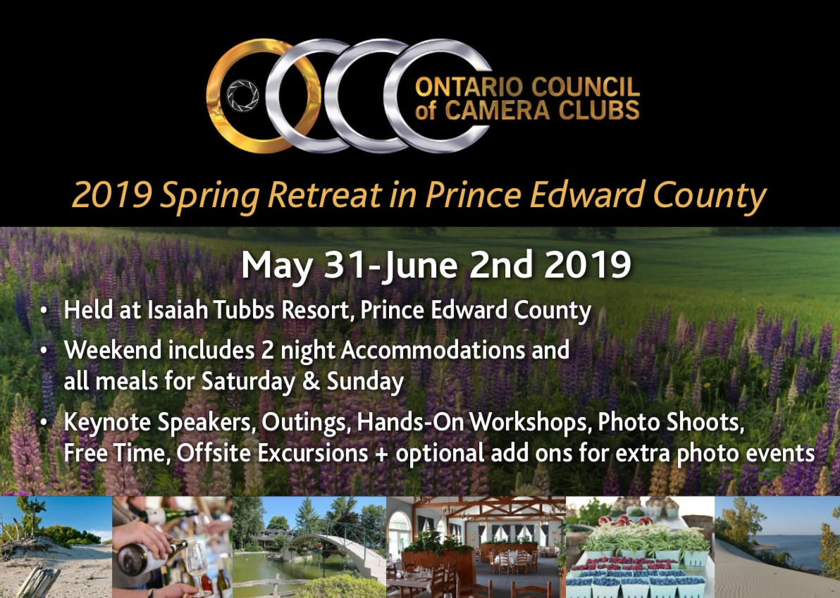 OCCC 2019 Spring Retreat, Prince Edward County