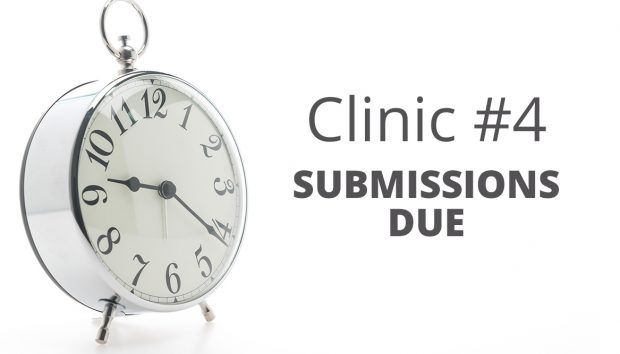 Submissions Due for Clinic #4: WABI SABI